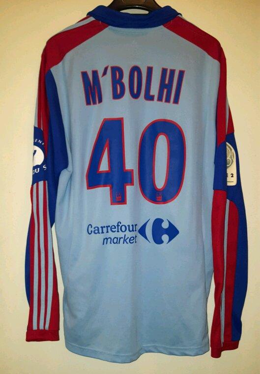Rais Mbolhi N°40 avec le Gazelec d'Ajaccio lors de la saison 2012-2013.