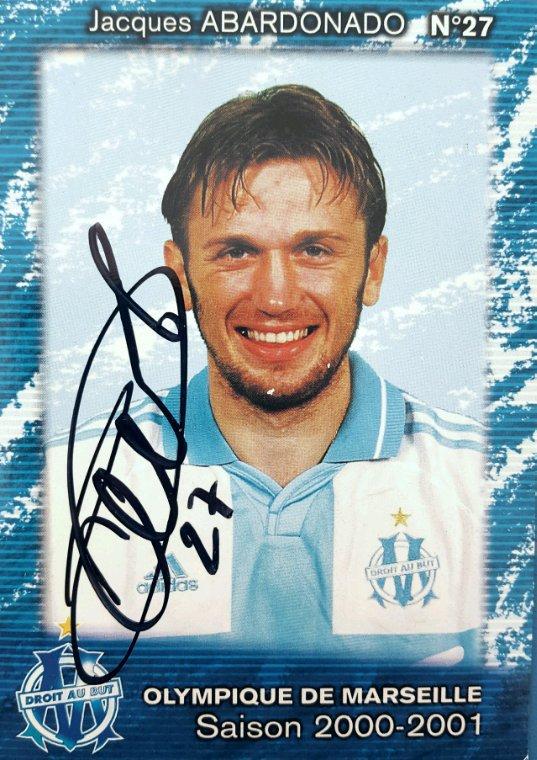 Jacques Abardonado Olympique de Marseille saison 2000-2001