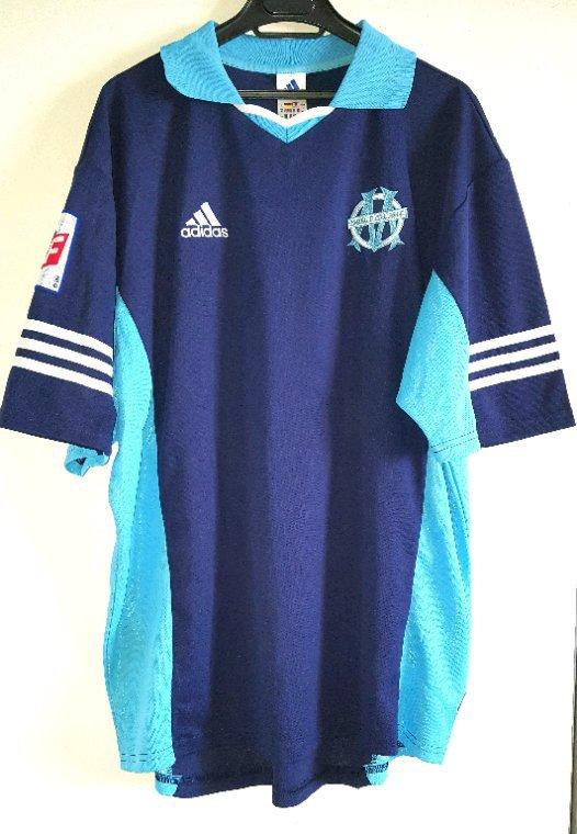 Maillot entrainement/matchs de préparation, Jacques Abardonado Olympique de Marseille saison 2000-2001.