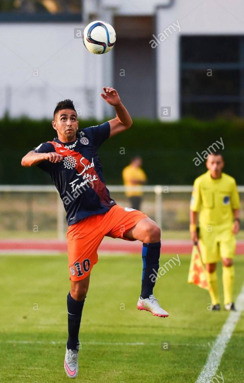 Ryad Boudebouz sous les couleurs de Montpellier Hérault SC lors le la saison 2015-2016.