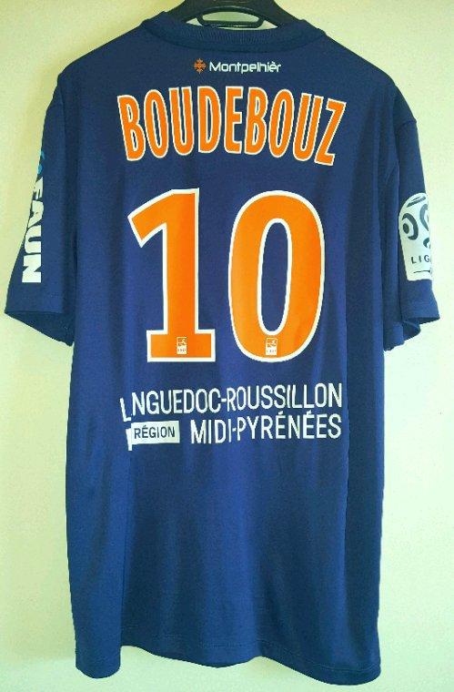 Ryad Boudebouz N°10 avec Montpellier Herault lors de la saison 2015-2016.