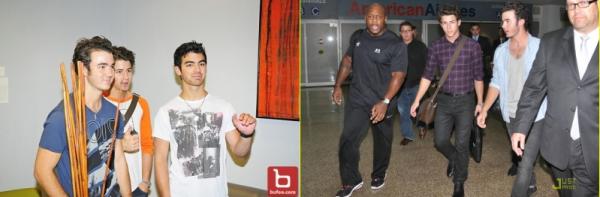JB arrivant à l'aéroport Porto Rico+JB à l'aéroporte Santo Domingo
