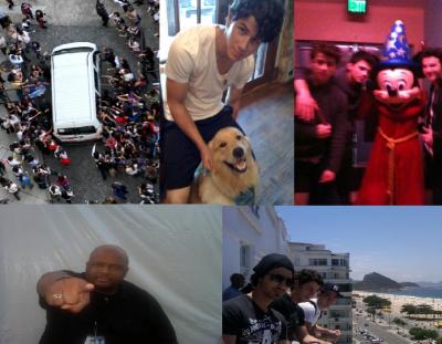 JB objet+photo perso JB+photo perso JB twitter+joe au cinéma+nick avc un amie