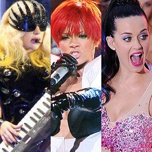 Lady Gaga , Rihanna , Katy Perry : 2011 c'est leur année