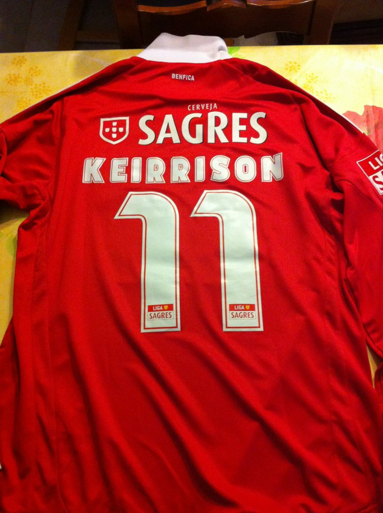 Maillot Keirrisson Benfica 2009 2010