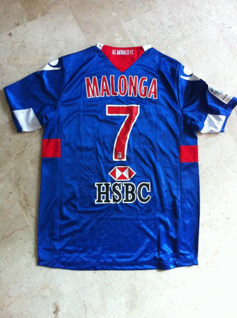 Maillot Malonga AS Monaco 2011 2012