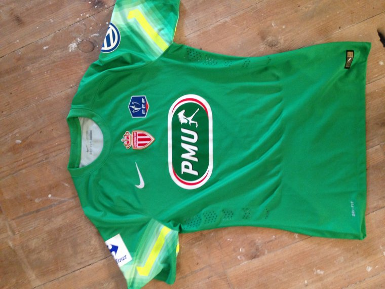 Maillot Sketelenburg AS Monaco Coupe de France 2015(vs Evian) — A VENDRE