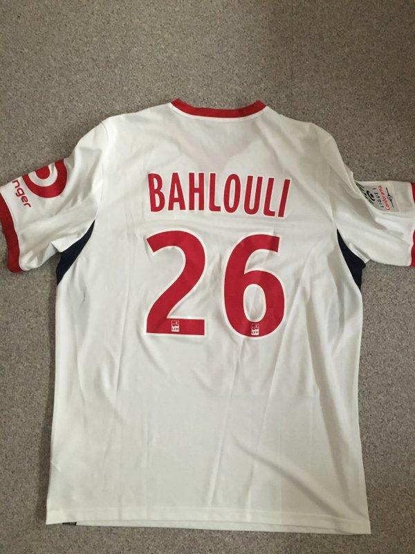 Maillot porté Bahlouli 2017-2018 LOSC — A VENDRE