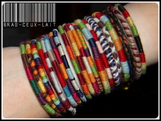 Créations  bracelets : Pour commander.