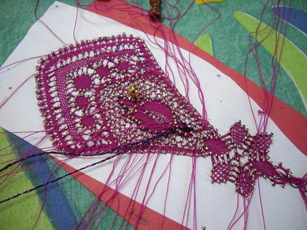 MARQUE PAGE Monique orné de perles