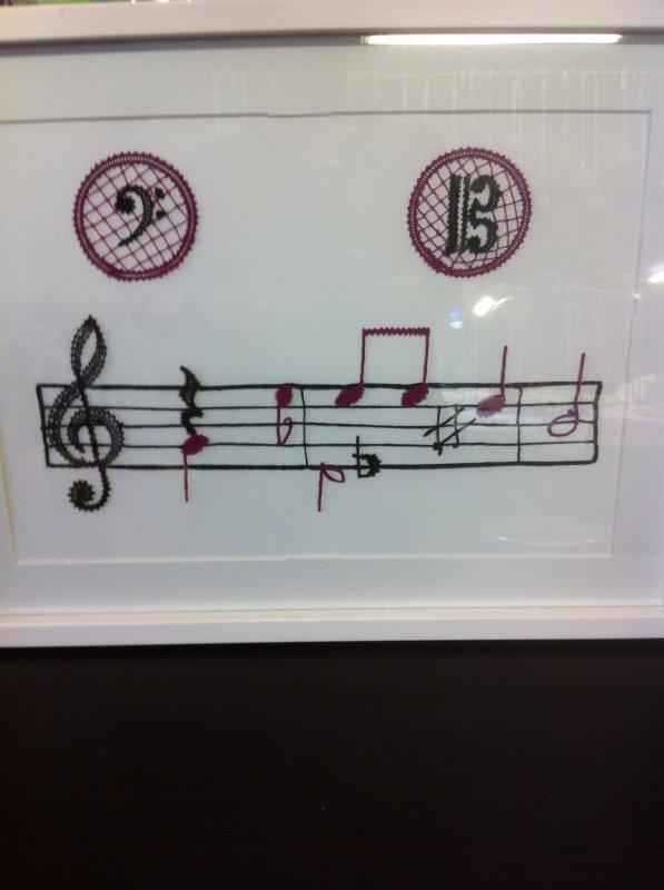 ARLETTE joli tableau destiné à une musicienne, créé et réalisé avec soin