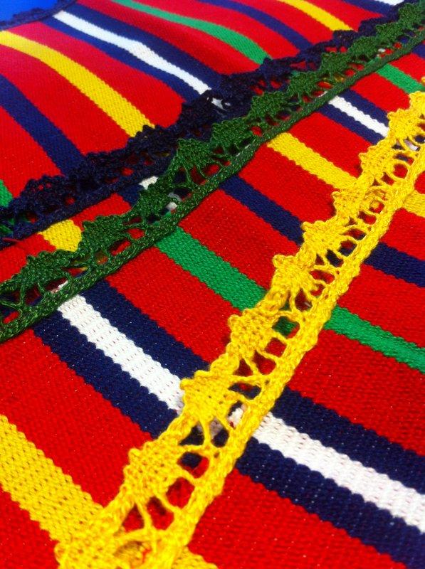 MONIQUE L. très jolis travaux , d'une part  6 sets de table et d'autre part une écharpe , d'autres  projets sont en cours ...