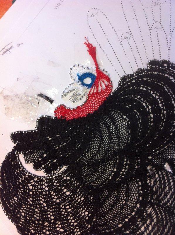 YVELINE et son magnifique dindon, remarquez s'il-vous-plait...  les plumes en Milanais ! l'as-tu fini ?