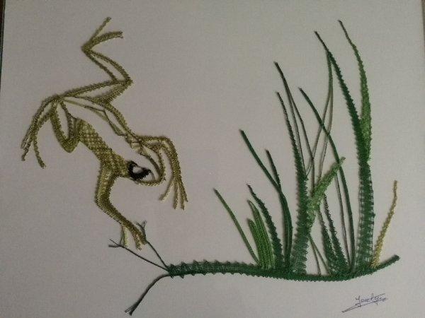 JOCELYNE H.  Il pleut les grenouilles sortent !  en voilà une bien vive