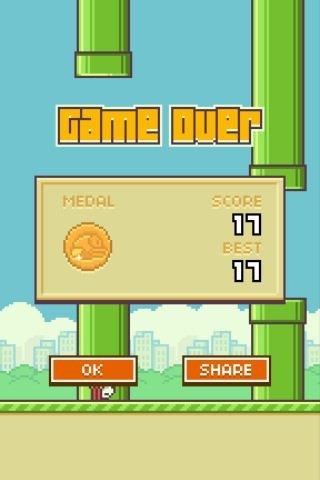 Mon new score a flappy bird je suis une accro XD
