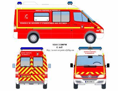 Vsav 3 bmpm v hicules de secours dessin s sur paint - Dessiner un camion de pompier ...