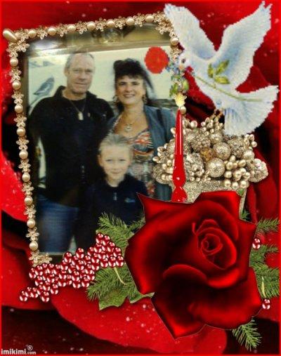 ma petite fille et nous les grand parents