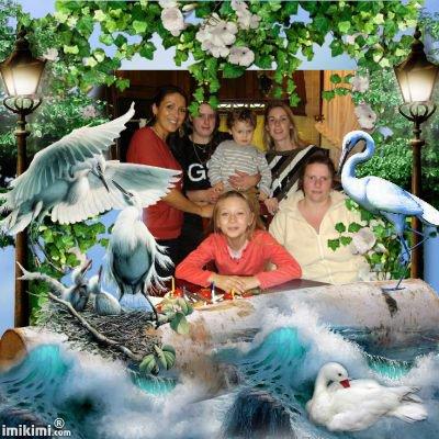 mes filles   que jaime  et mes deux petit enfant