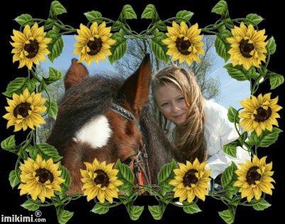 ma petite fille  guitana et sont cheval  zouna  mercie kilmister