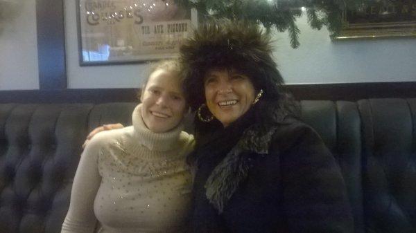 hier soir  avec ma filles  pause cafer  du marcher de noel