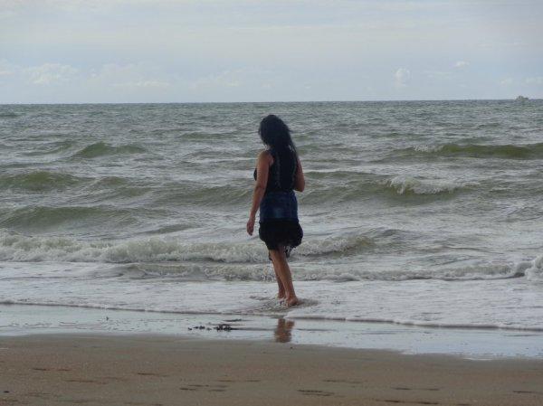ma vie   la mer  des  camarque  ecoutet le bruit  des vague