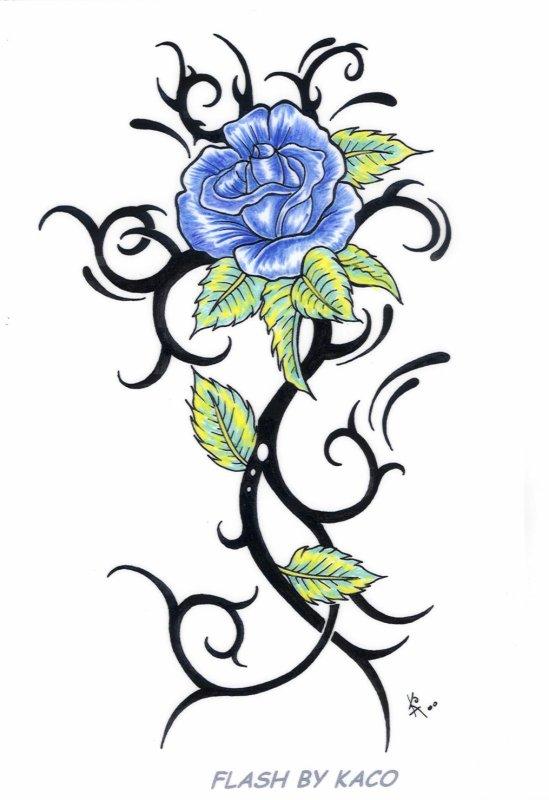 tattoo rose tribal