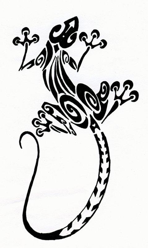 tattoo salamandre