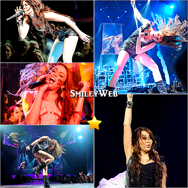 Miley en concert..ça donne ça !
