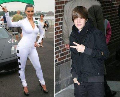 Justin Bieber très proche de Kim Kardashian