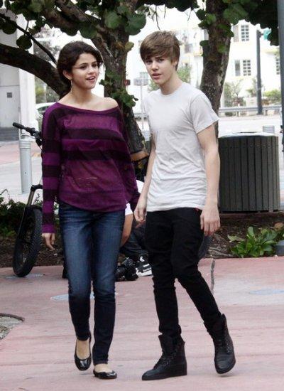 Les deux tourtereaux : Justin Bieber et Selena Gomez