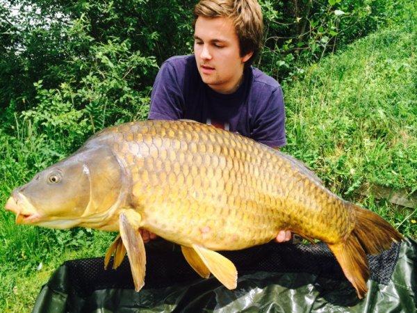 Petite journee de peche  avec 3 runs pour 3 fish dont cette belle commune de 18kg
