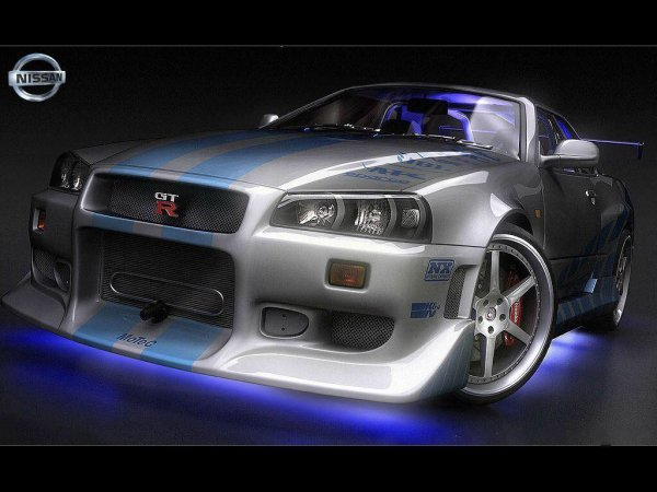 Nissan skylane gt-r 34 de fast and furous 2 hommage à Paul Walker
