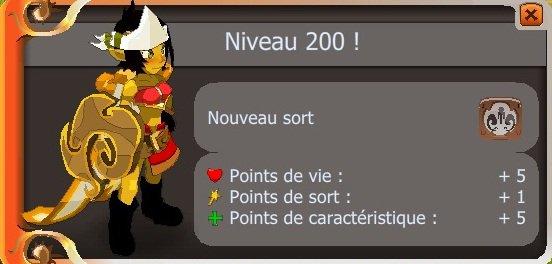 200 de plus dans la team et dans la guilde :p