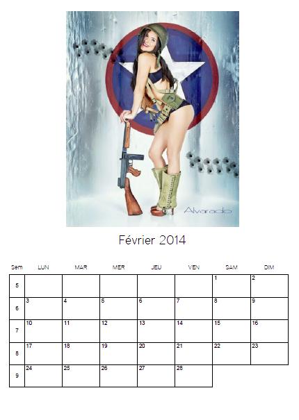 ☆☆ Petit cadeau ... Le calendrier 2014 ... Voici le mois de Février ... ☆☆