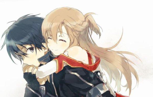 Asuna et Kirito trop mignon 😍