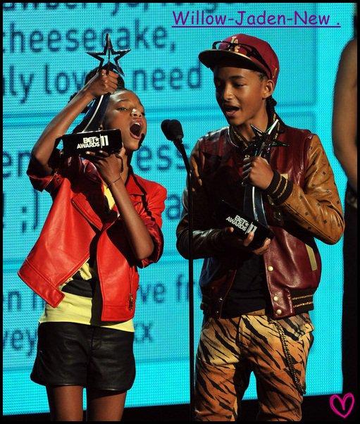 Dimanche 26 Juin 2011 : Willow &é Jaden Et Leurs Famille Don Jade Pinkett ; Se Son Rendu Au Bet Awards 2011