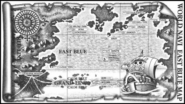 La géographie de One Piece !