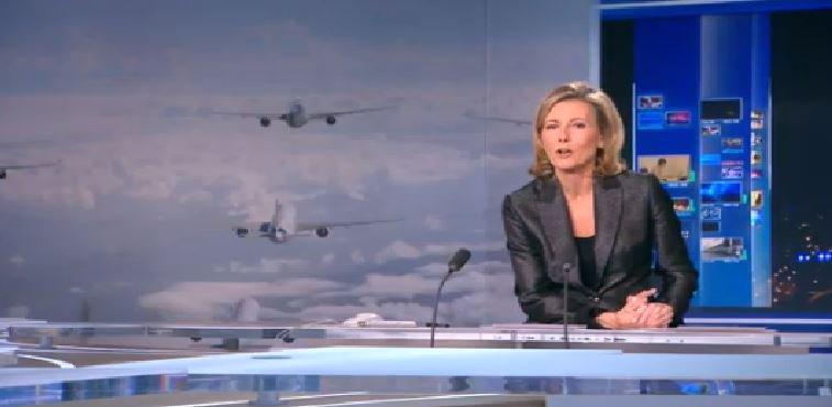 """Avec son journal de 13H et 20H ou encore avec """"Reportages"""", Claire Chazal cartonne sur TF1..."""