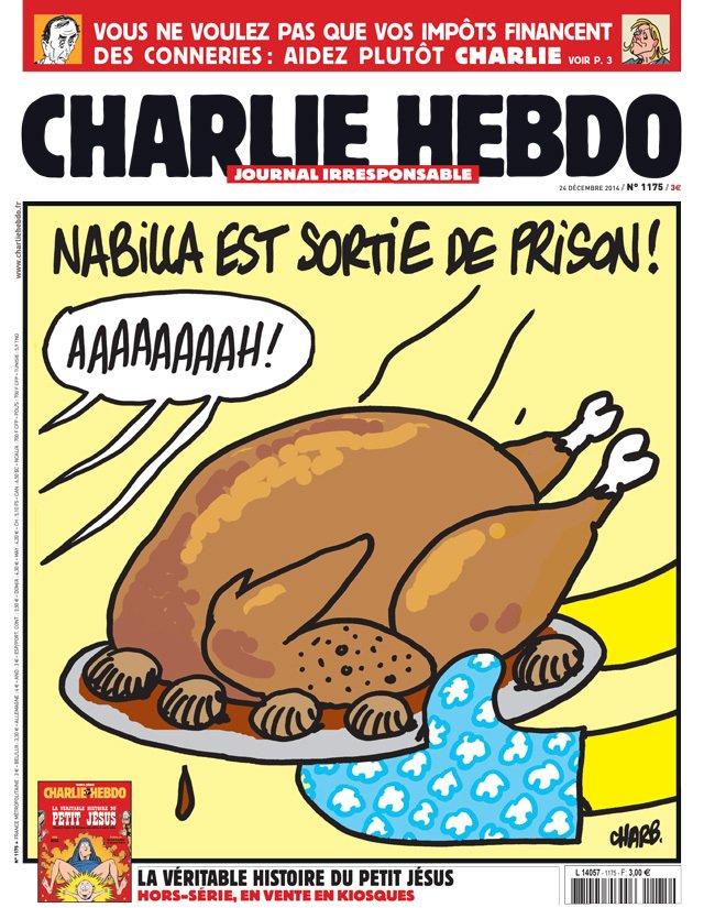 Quand Charlie Hebdo se moque de Nabilla qui est sortie de prison... Regardez !