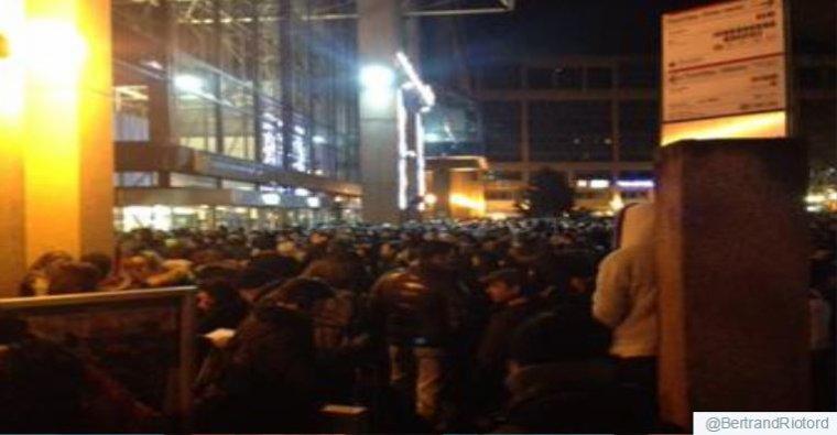 Alerte à la bombe hier soir à la gare de la Part-Dieu à Lyon...