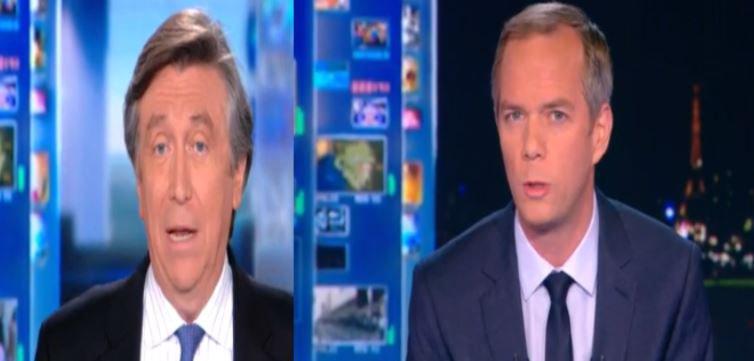 Les JT de TF1 largement suivi hier grâce à Jacques Legros et Julien Arnaud...