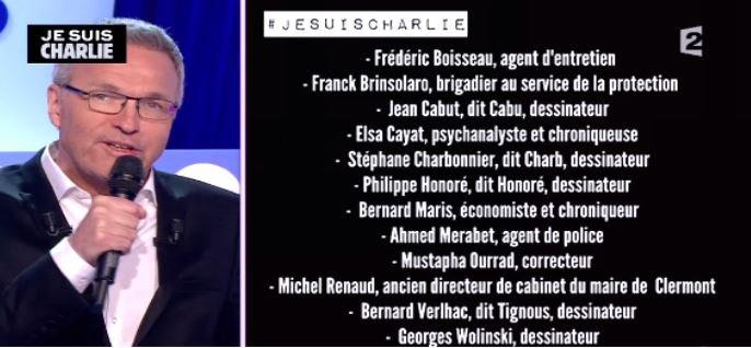 """Excellente audience pour l'émission spéciale """"Charlie Hebdo"""" d'""""On n'est pas couché"""" hier soir sur France 2..."""