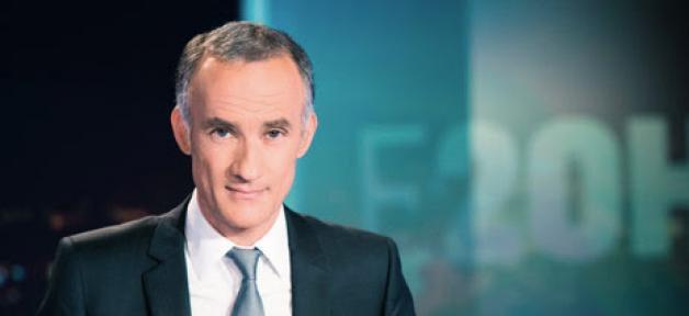 Gilles Bouleau largement leader des audiences hier soir sur TF1 avec son JT...