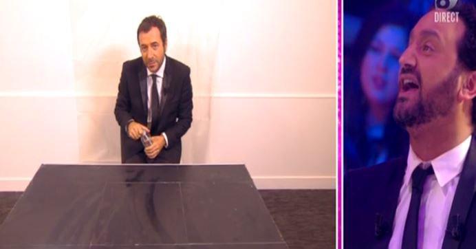 Bernard Montiel se fait asperger en direct sur D8 dans l'émission de Cyril Hanouna...