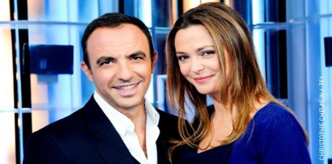 """""""50 MN Inside"""": Nikos Aliagas et Sandrine Quetier toujours largement leader des audiences hier soir sur TF1.."""