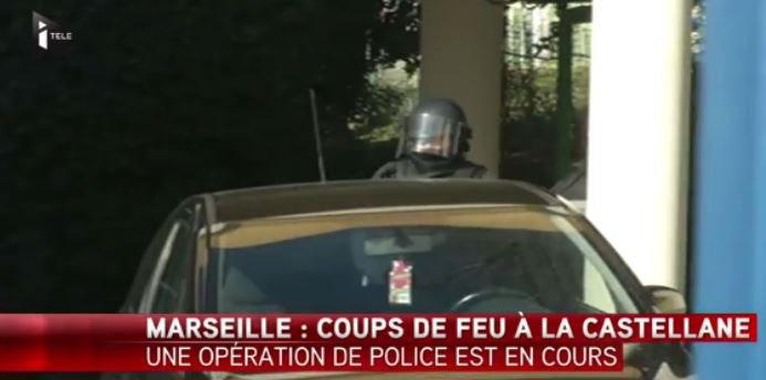 Des hommes armés ont ouvert le feu ce matin à Marseille à la Castellane... Regardez !