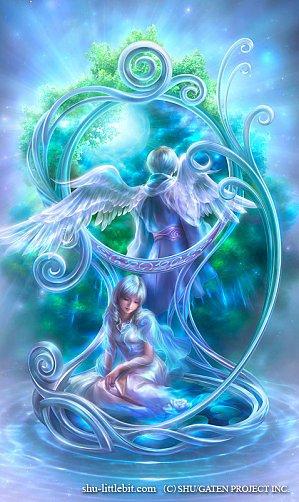 L'ange et la petite fille.