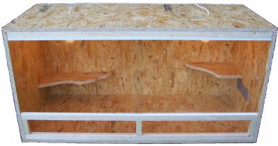 fabrication terrarium vivarium sur mesure en osb pogona vitticeps. Black Bedroom Furniture Sets. Home Design Ideas