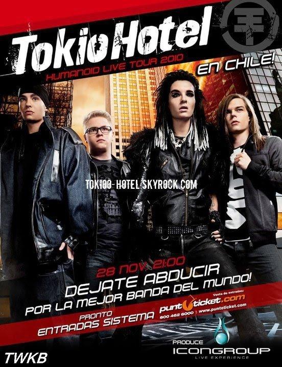 Poster Officiel pour le concert au Chili.