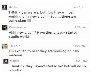 Les garçons commencent à travailler sur le nouvel album !